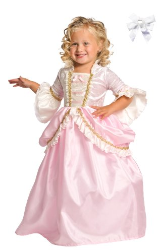 Little Adventures 11133 Parisian Pink Princess Costume Ages 5-7 + Free Hair Bow