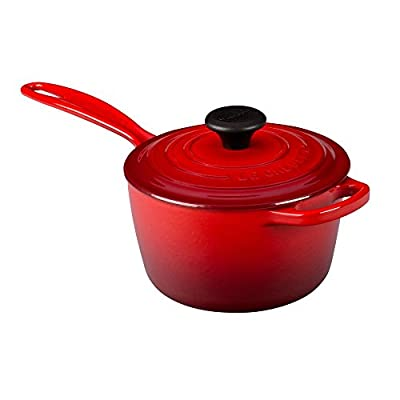 Le Creuset 1.75 qt. Signature Iron Handle Anti Drip Pouring Rim - Cherry