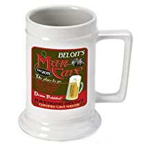 Personalized 16 oz. Man Cave Beer Stein (Set of 12)
