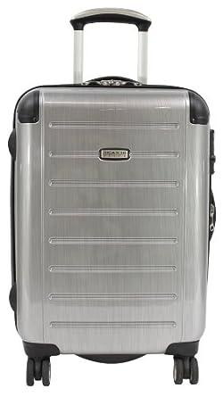 Ricardo Beverly Hills Luggage Roxbury 21-Inch Expandable Freewheel Wheelaboard, Brushed Silver, Small