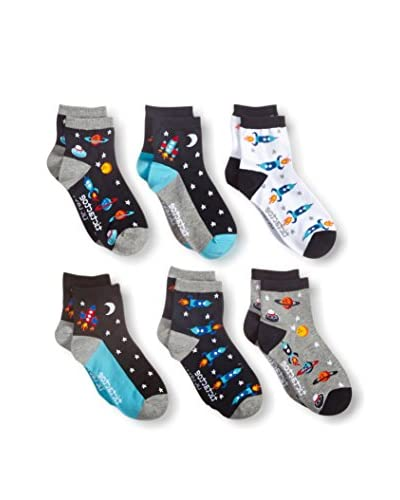 Tic Tac Toes Kid's 6-Pack Boys Combed Cotton Qtr