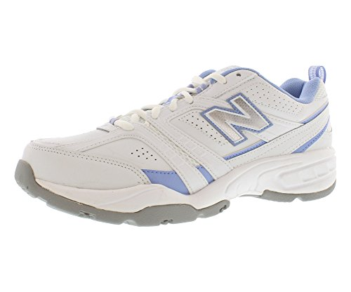 New Balance Women'S Wx409 Core Training Shoe,White/Blue,10 B Us