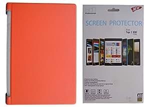 "Rtek Leather Flip Cover with PVC Back Case + Screen Guard for Lenovo Yoga 2 - 8"" 830F Tab (Orange)"
