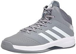 adidas Performance Men\'s Isolation 2 Basketball Shoe,Grey/White/Grey,10.5 M US