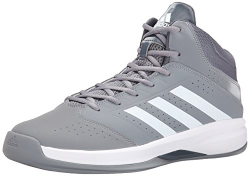 adidas Performance Men's Isolation 2 Basketball Shoe,Grey/White/Grey,11 M US