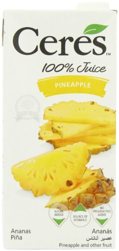 Ceres Pineapple 100 Percent Fruit Juice 1 L (Pack of 12)