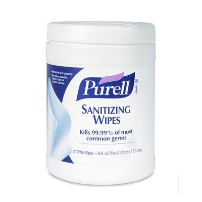 Purell Sanitizing Wipes - Lint-Free - White - 270 / Box front-970855