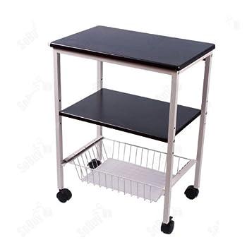 pas cher chariot de cuisine de service meuble rangement cuisine roulant en bois desserte. Black Bedroom Furniture Sets. Home Design Ideas