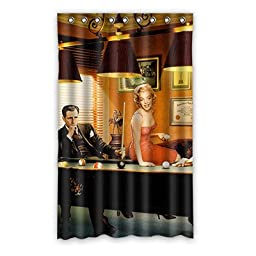 Bedroom Custom Solid Warm Billiards (5) Black-out Window Curtain Polyester Fabric 52 Inches x 84 Inches (One Piece)
