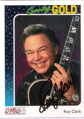 ROY CLARK (COUNTRY SINGER)1992 CMA Signed Trading Card - Signed Index Cards