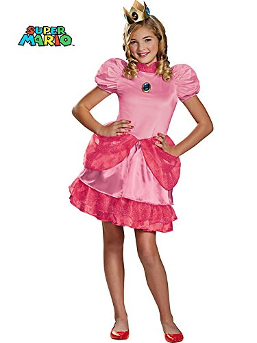 Disguise Nintendo Super Mario Brothers Princess Peach Tween Costume