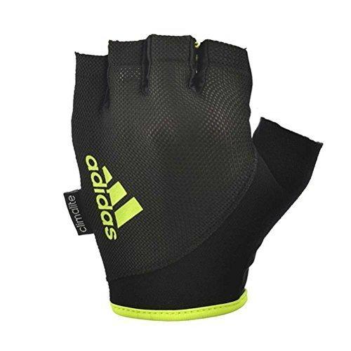 Adidas-Guanti da fitness, colore: giallo