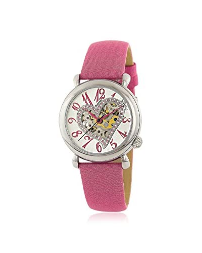 Stuhrling Women's 109SW.1215A2 Aphrodite Delight Pink/Silver Satin Leather Watch
