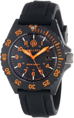 Ballast Men's BL-3118-03 Bright Star Analog Display Swiss Quartz Black Watch