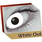 #9: Petrifeye White Coloured Contact Lenses With Halloween Pumpkin Soaking Case