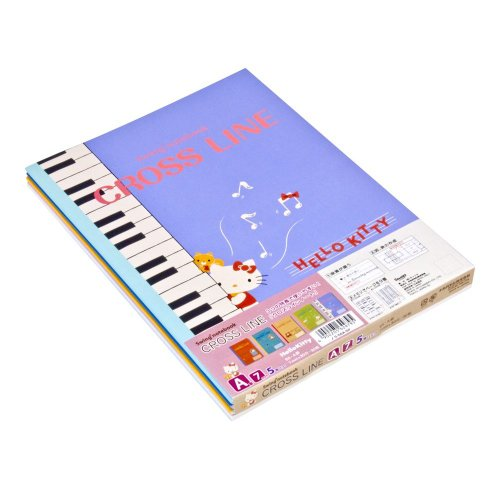 Nakabayashi B5 size cross-line note 5 book Pack A notebook HELLO KITTY-S-56A-5P