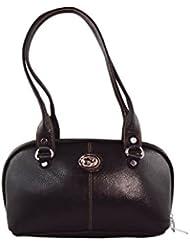 KARP Women's Vintage Casual Stylish Black PU Leather Multi Compartment Large Capacity Shoulder Handbag (HandBag...