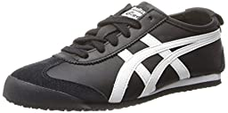 Onitsuka Tiger Mexico 66 Fashion Sneaker, Black/White, 12.5 M Men\'s US/14 Women\'s M US