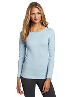 Duofold Women's Mid Weight Wicking Crew Shirt, Frost, X Large