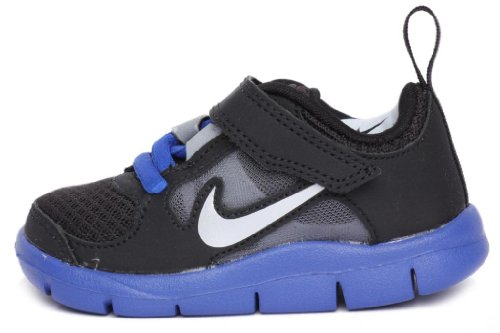 Nike Kids Toddlers Velcro Free Run 3 (TDV) Black Silver Royal 512167-004 5c