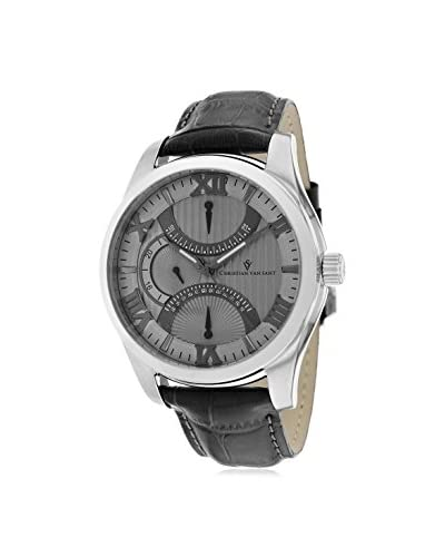 Christian Van Sant Men's CV7312 Oak Grey Leather Watch