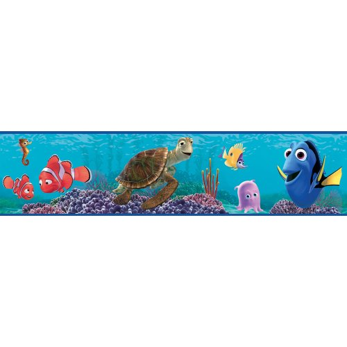 Imperial Disney Home DF059111B Finding Nemo Border, Blue, 6.83-Inch Wide - 1