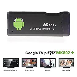 MK802+ New Version MK802 Plus Android 4.0 Mini PC Smart TV Box Allwinner A10 DDR3 1GB RAM 4GB ROM