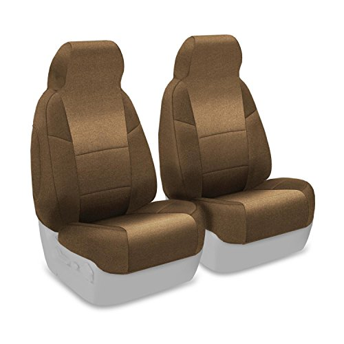 Coverking Custom Fit Front 50/50 Bucket Seat Cover For Select Bmw 3-Series Models - Velour (Beige) front-1061274