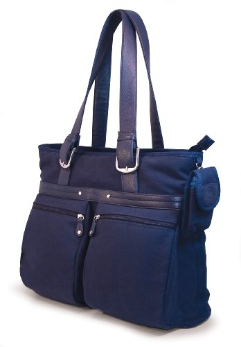 Mobile Edge 16-Inch PC/17-Inch MacBook ECO Friendly Laptop Tote (Navy Blue)