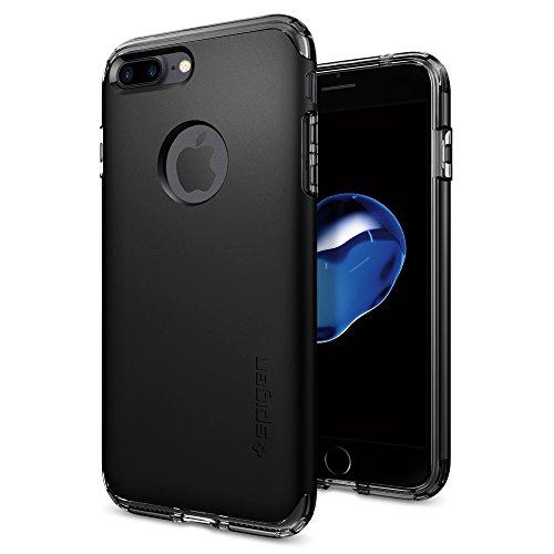【Spigen】 iPhone7 Plus ケース, ハイブリッド・アーマー [ 米軍MIL規格取得 衝撃吸収パターン加工 ] アイフォン 7 プラス 用 耐衝撃カバー (iPhone7 Plus, ブラック)