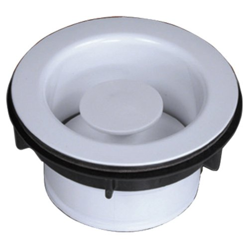 Waste King 1020 Decorative Sink Flange and Stopper (White)