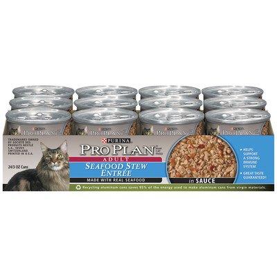 Seafood Stew Entrée Wet Cat Food In Sauce (3-Oz, Case Of 24)