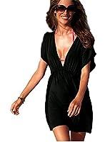 Demarkt Sexy Robe de Plage Couverture/ Maillots de Bain/Swimwear 1 Pièces pour les Femmes avec Couleur Noir