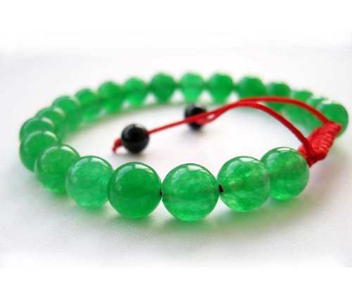 8mm Green Jade Stone Beads Tibetan Buddhist Mala