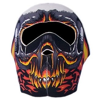 Hot Leathers Evil Skull Neoprene Face Mask (Multi)