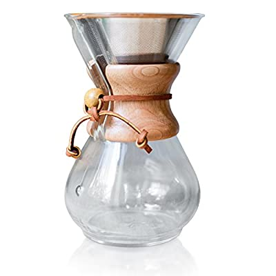 Pour Over Coffee Filter - Reusable Drip Coffee Filter for Chemex, Hario V60 and other Coffee Makers by Willow & Everett