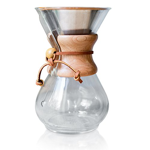 Chemex Coffee Maker Reusable Filter : Pour Over Coffee Filter - Reusable Drip Coffee Filter for Chemex, Hario V60 and other Coffee ...