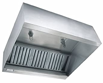 Concession Trailer Hood 8ft X 30in Exhaust Only Vent Hood With Fan Curb By