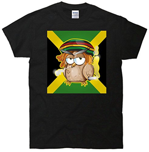 Jamaican Owl Smoking Weed T-Shirt