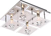 globo G9 Iolana Chrome Ceiling Lamp, Pack of 4 by globo