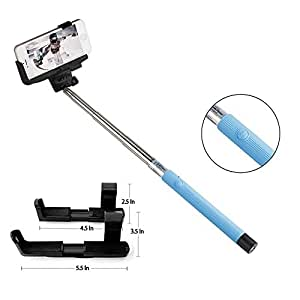 rixow s6 selfie stick extendable self portraits pole handheld se. Black Bedroom Furniture Sets. Home Design Ideas