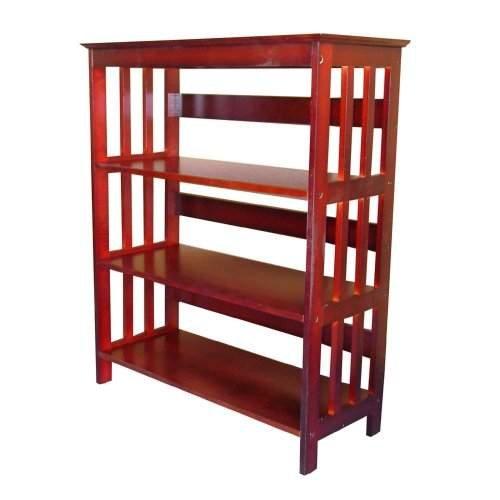Mission Style 3 Tier Cherry Finish Bookshelf Mission Style 3 Shelf Bookcase