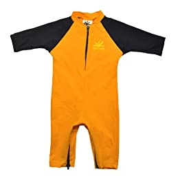 Fiji Sun Protective UPF 50+ Baby Swimsuit by Nozone in Gold / Navy, 18-24 mo.