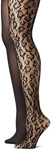 Betsey Johnson Womens Two-Pack Leopard Net Tights