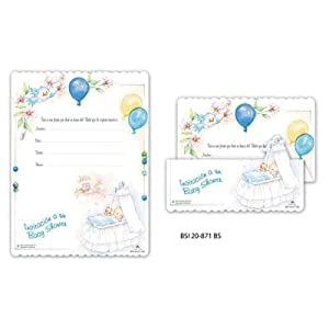 baby shower invitation boy spanish 100 per pack envelopes