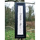 Ogham Wishes-Gra/Love-Long-Framed Irish Art-Irish Made