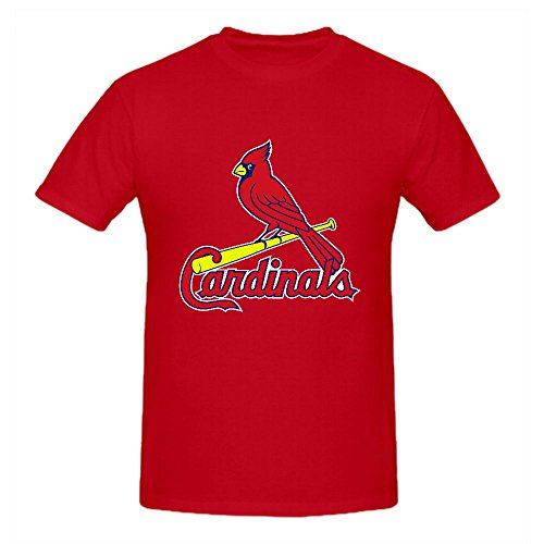 St Louis Cardinals Crew Neck MLB Team Men T Shirts Polo Red