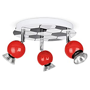 Children's 3 Way Football Adjustable Ceiling Spotlight Fitting from MiniSun