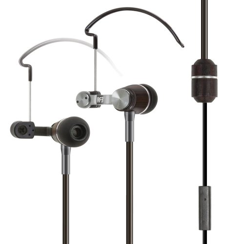 Rf3 Envi 3.5 Mm Natural Wood Stereo With Earhooks Cell Phone Headset