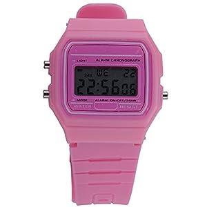 Moonar®De moda Digital goma silicona relojes de pulsera azúcar Multi Color alarma cronómetro marca Moonar